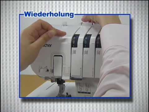 Anleitung Einführung Brother 4243D Overlock Nähmaschine (Deutsch)