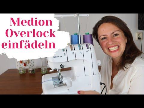 Medion Overlock einfädeln ❤️ Schritt für Schritt 18030(auch für 16600 und Aldi Overlock Nähmaschine)