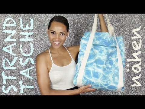 Strandtasche nähen / How to sew a beach bag