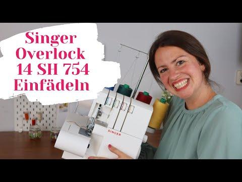 Singer Overlock einfädeln 14SH754 - Schritt für Schritt ❤️ (Werde ein Einfädel-Fuchs)